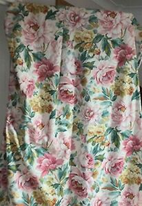 Ann & Robert Swaffer Vintage Country Flower Lined Curtain 'Baslow' 88L x106W