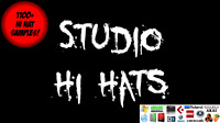 Studio Hi Hats 1100+ WAV Samples High Quality HH Percussion Drums