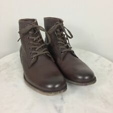 Frye Women's Tyler Leather Lace Up Leather Ankle Boot NWOB Combat Sz 9M Brown