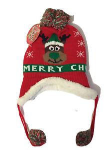 Kids Girls/Boys Unisex Christmas beanie warm winter cap hat pom Pom, Xmas gift
