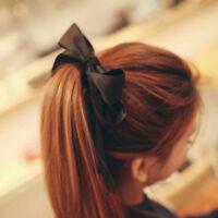 New Cute Women Headwear Ribbon Bow Rope Elastic Hair Band Girl Hair AccessorieLJ