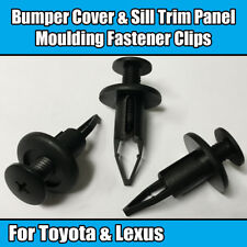 10x 9mm Clips For Toyota Lexus Bumper Cover Sill Trim Panel Moulding Plastic