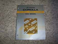1992 Toyota Corolla Electrical Wiring Diagram Manual Deluxe LE 1.6L 4Cyl