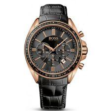 Reloj para hombre Cronógrafo Driver HUGO BOSS Dial Negro HB1513092 RRP £ 299.00