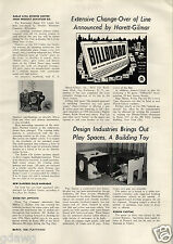 1956 PAPER AD Article Radar Civil Defence CD Center Toy Product Miniature