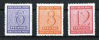 SBZ 117 - 119 C X Postmeistertrennung Roßwein postfrisch Michel 96,00 € MNH