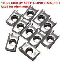 10pcs APKT1604PDFR-MA3 H01 Milling Carbide Inserts Blades For Aluminum Copper