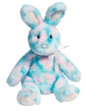 "Douglas Cotton Candy BLUE MULTI Color BUNNY 10"" Plush Easter Rabbit NEW"