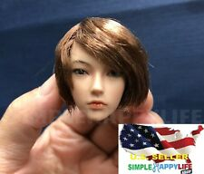 "1/6 Asian GIRL Head Sculpt SHORT HAIR For 12"" PALE PHICEN Figure ❶USA IN STOCK❶"