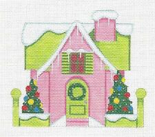 Sp.Order ~ Lovely Pink Glitter House Hp Needlepoint Ornament by Raymond Crawford