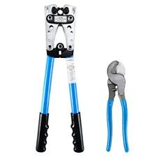 Cable Crimper and Cable Wire Cutter Tool Set for 10, 8, 6,4, 2 ,1/0 AWG Wire