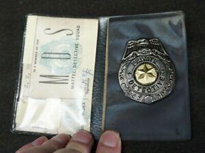 Vintage 1950's/60's MATTEL DETECTIVE SQUAD Police BADGE AND HOLDER