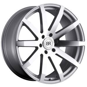 "Black Rhino Traverse 20x9 6x139.7 (6x5.5"") +15mm Silver/Mirror Wheel Rim"