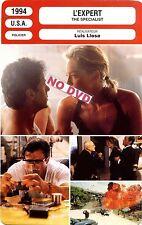 Fiche Cinéma. Movie Card. L'expert/The specialist (USA) 1994 Luis Llosa