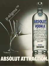 ABSOLUT ATTRACTION Vodka 1989 Vintage Print Ad # 102 5