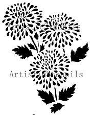 STENCIL Chrysanthemum Flower  10x7.75