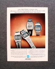 [GCG] M974 - Advertising Pubblicità -1979- SEIKO DIGITAL QUARTZ A ENERGIA SOLARE
