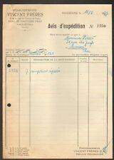"""HAGUENAU (67) USINE de COMPTEUR à EAU """"VINCENT Freres"""" en 1937"""