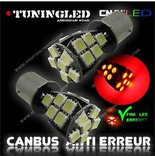 2 AMPOULE 21 LED ROUGE SMD CULOT P21/5W 1157 BAY15D 2 PLOTS ANTI SANS ERREUR ODB