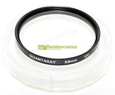 58mm. filtro UV Quantaray
