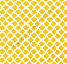 Bright Yellow White Talisman Lattice Vinyl Contact Paper Drawer Liner Peel Stick