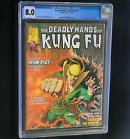Deadly Hands of Kung-Fu #19 💥 CGC 8.0 White Pgs 💥 1st White Tiger! Marvel 1975