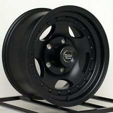 "15 Inch Black Wheels Rims FITS: Nissan Toyota Chevy GM Truck 15x8"" AR23 6 Lug"