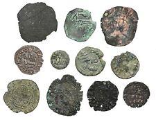 Lot of 11 Medieval coins, Spain, Arabs in Spain, and Crusaders