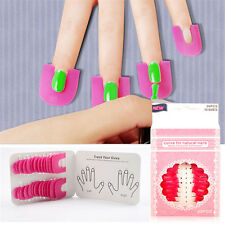 26pc Nail Manicure Sticker Spill-proof Finger Cover Polish Holder Protector Tool