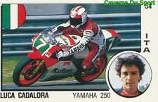 054 LUCA CADALORA YAMAHA 250 MOTO STICKER SUPERSPORT 1988 PANINI RARE & NEW