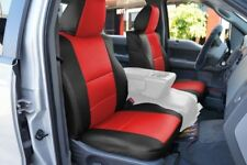 FORD F-150 04-08 S.LEATHER FRONT SEAT COVER NO BUILT IN SEATBELT BLACK/RED