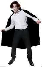 Adult Black Cape long Halloween Fancy Dress Costume