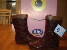 NIB Girls Size 12 Bibi Copper Brown Sequin Boots Shoers Zippers