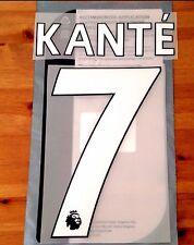 Chelsea Home Shirt 2017-18 KANTE#7 PS-Pro SportingiD Name & Number Set