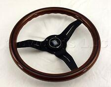 Nardi Steering Wheel Deep Dish Corn 330 mm Mahogany Wood Black Type A Horn