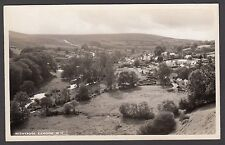 Postcard Withypool near Exford Exmoor Somerset overview posted 1953 RP Blackmore