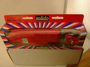 SOLIDO TONER GAM III #3511 MACK POMPIERS FDNY TRUCK & TRAILER NEW IN BOX