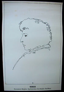 BOB DYLAN Planet Waves 1974 Asylum/Tower Records PROMO Only POSTER Frank Carson