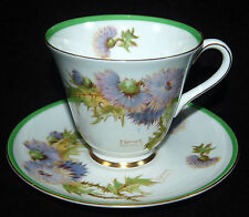 BEAUTIFUL ROYAL DOULTON GLAMIS THISTLE CUP/SAUCER - ARTIST SIGNED
