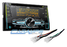 NEW JVC DOUBLE 2 DIN CAR STEREO RADIO & SIRIUS XM W/ INSTALL PARTS & BLUETOOTH