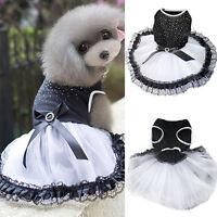 Dog Cat Bow Tutu Dress Lace Skirt Pet Puppy Princess Costume Apparel Clothes hot