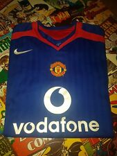 *MANCHESTER UNITED 2005/06 AWAY SHIRT ADULTS (XL) BLUE VERY GOOD CONDITION *