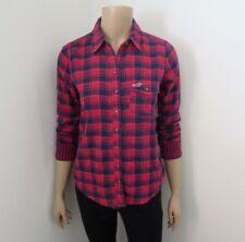 Hollister Womens Plaid Shirt Size Small Top Shirt Red & Blue Blouse
