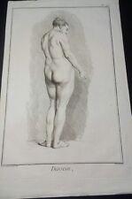 Grabado de B.L. Prevost de una mujer desnuda de l 'Encyclopédie