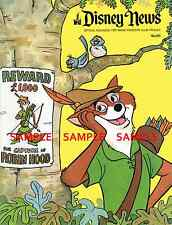"Vintage Disney News Cover Robin Hood 1973  [ 8.5"" x 11"" ]  Poster"