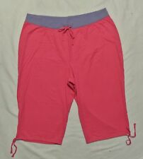 Plus JMS Just My Size French Terry Capri Pants 2 Tone Pink/Purple 4X NEW