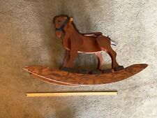 Wooden Rocking Horse  Built Solid Wood  Stain Standard Varnish 35  x 25  x  15