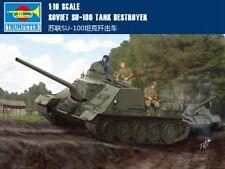 Trumpeter 00915 1/16 Soviet SU-100 Tank Destroyer Armored Car Static Model Kit