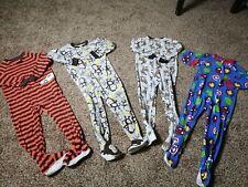 Lot of 4  Boys size 5 marvel Fleece Footed Sleeper Pajamas pj One Piece 5 Years