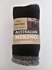 3 PRS LADIES SZ 2-8 BLACK  AUSTRALIAN MERINO THERMAL WORK//HIKING SOCKS